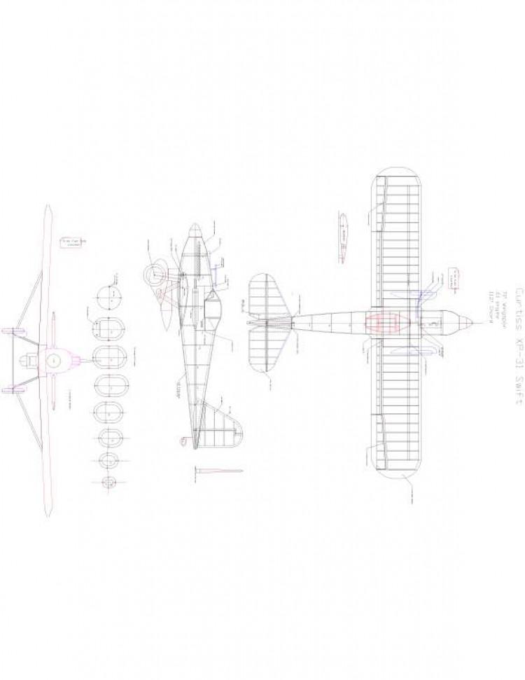 Xp-31 Model 1 model airplane plan