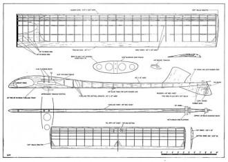 Yardstick model airplane plan