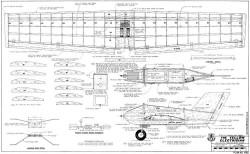 Yellow Electrician model airplane plan