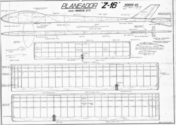 Z16 model airplane plan
