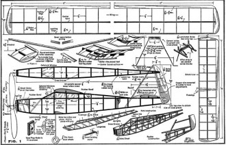 Zaic Rubber 25in 1951 model airplane plan