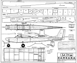 Zanzara model airplane plan