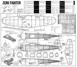 Zero Fighter Bentom model airplane plan