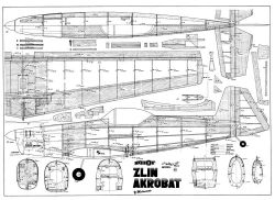 Zlin model airplane plan