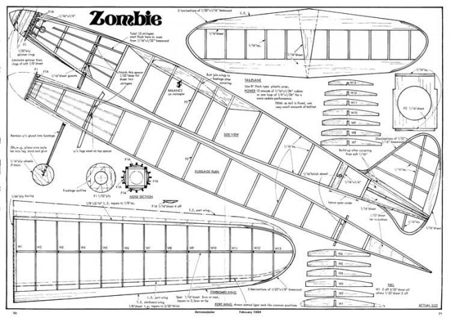 Zombie model airplane plan