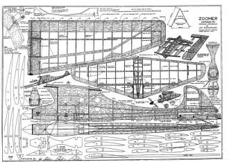 Zoomer RC model airplane plan