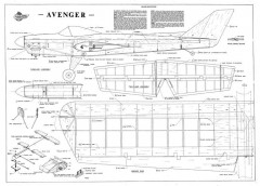 Aero-Flyte Avenger model airplane plan
