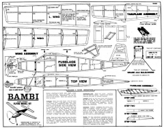 af bambi rubber 33 inch model airplane plan
