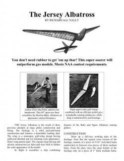 albatross model airplane plan