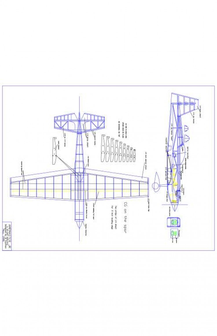 AMP JR Model 1 model airplane plan