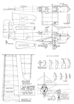Tupolev  ANT-25 model airplane plan