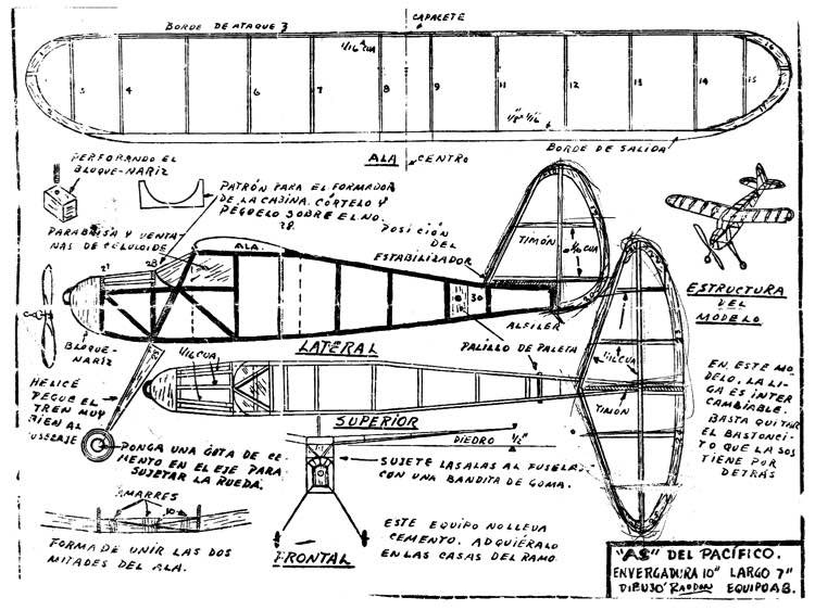 as del pacifico model airplane plan
