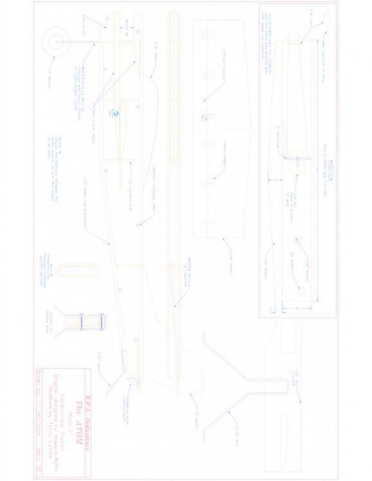 ATOM2 Model 1 model airplane plan