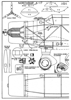 attack p1 model airplane plan