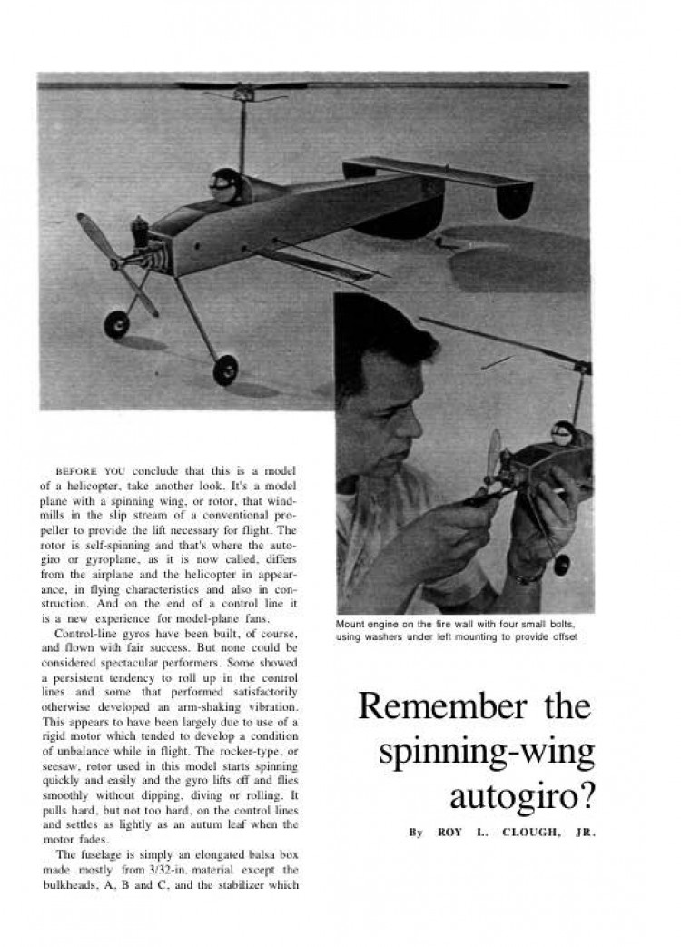AutoGiroModel model airplane plan