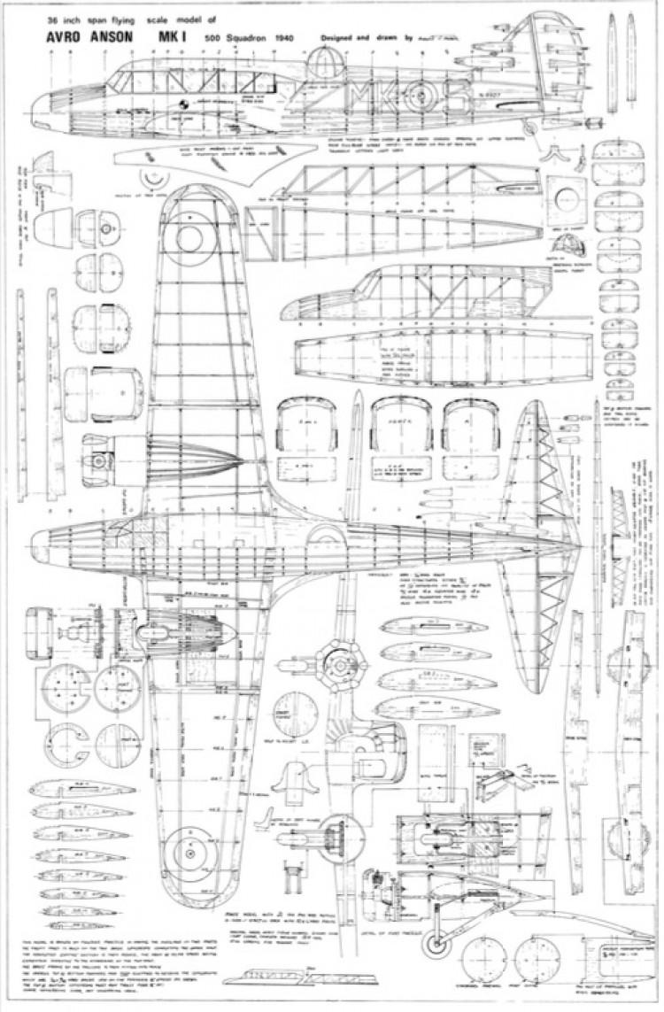 Avro Anson model airplane plan