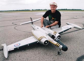 Avro CF-100 Canuck model airplane plan