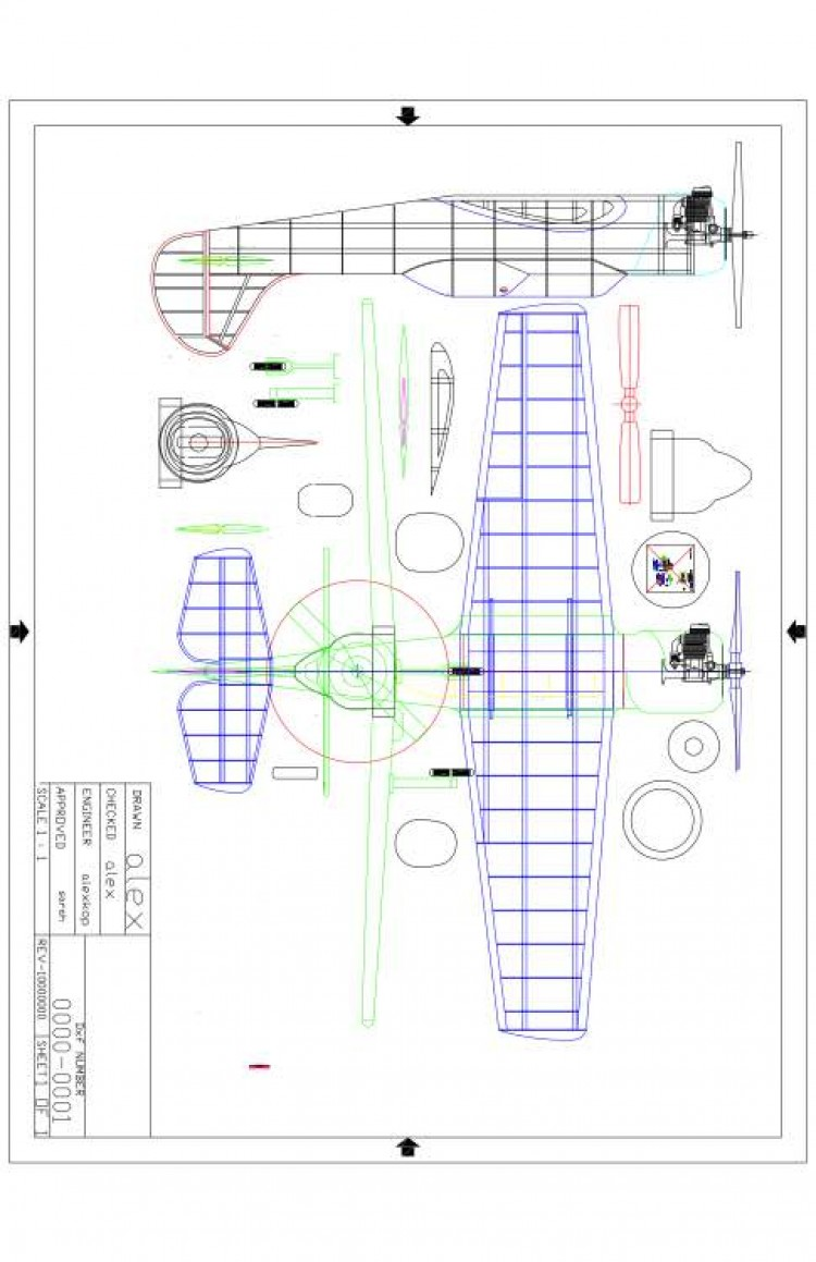 Ayk-52-53 Model model airplane plan