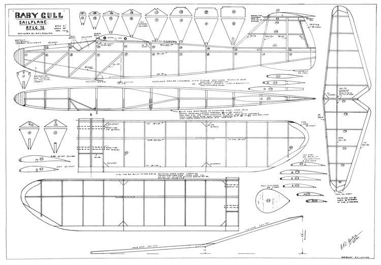 baby gull model airplane plan