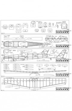 Baracuda Model 1 model airplane plan