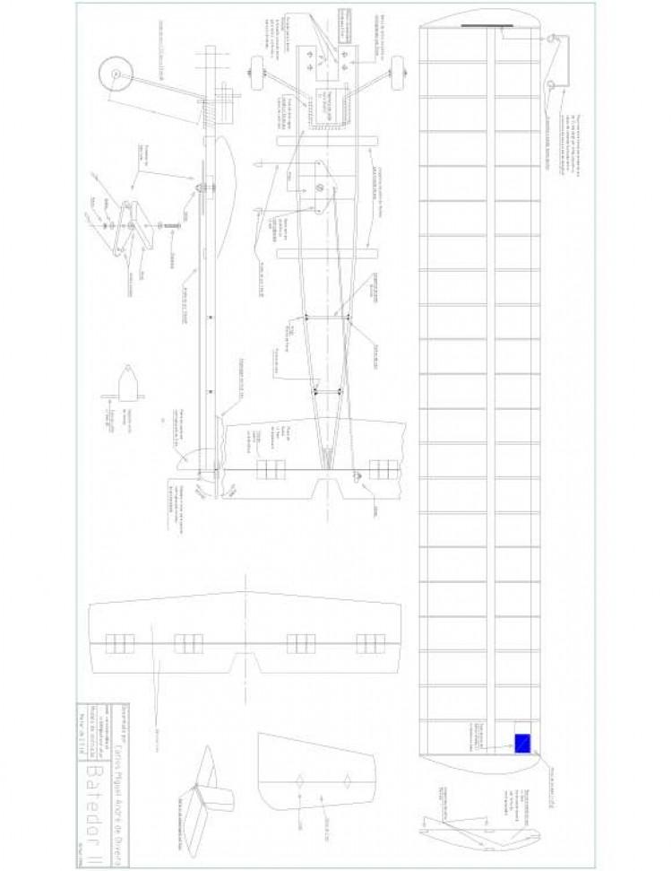 BATEDOR Model 1 model airplane plan