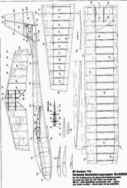 Bauplan 739 model airplane plan