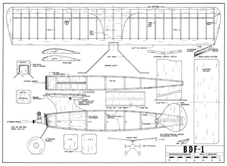 bdf-1 (1/4 Pint) model airplane plan