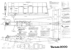Berballa 2000 model airplane plan