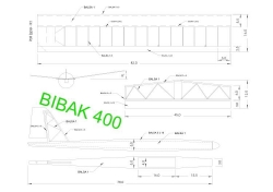 bibak400 model airplane plan