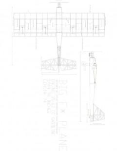 Big F Model 1 model airplane plan