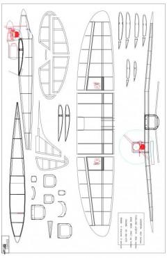 binary1 Model 1 model airplane plan