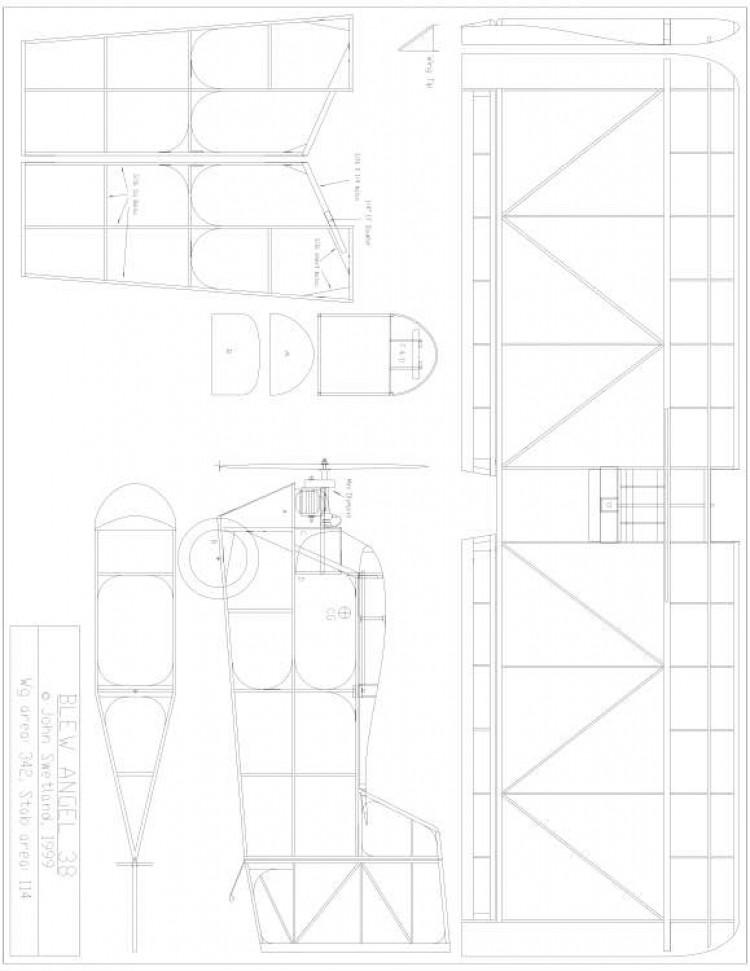 Blew Angel 38 Model 1 model airplane plan