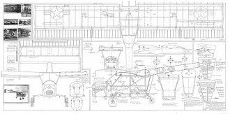 BOEING-XL-YL-15 Scout model airplane plan