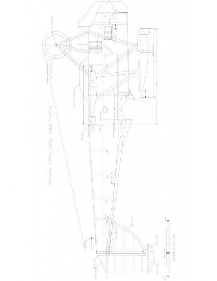 BOEINGFB1 Model 1 model airplane plan