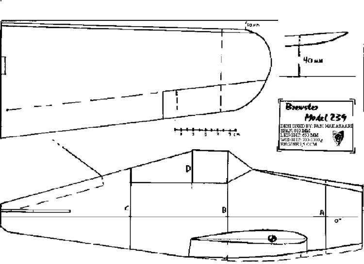 BREW1 model airplane plan