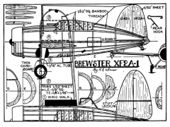 brewster model airplane plan