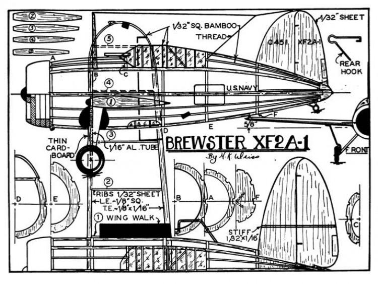 brewster model airplane plan