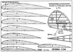 C-34 p2 model airplane plan