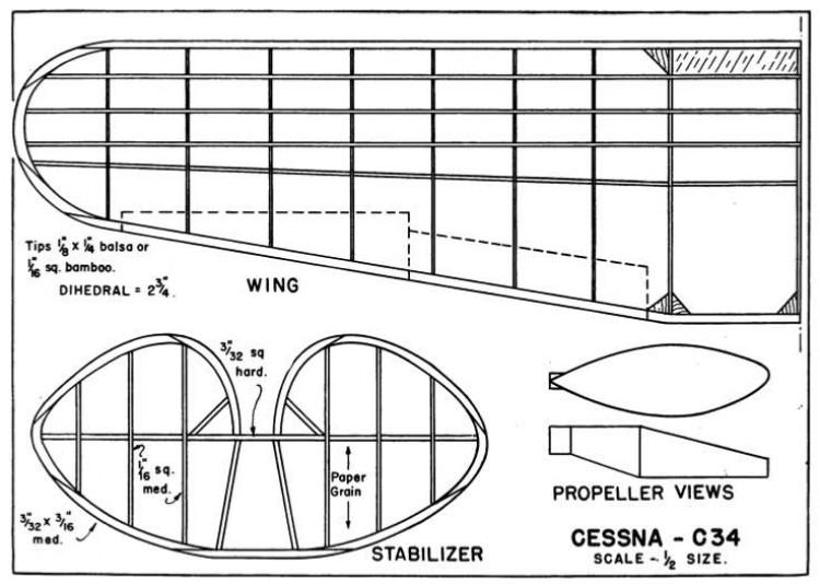 C-34 p3 model airplane plan