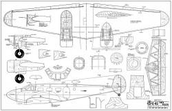 C-45 Twin Beech model airplane plan
