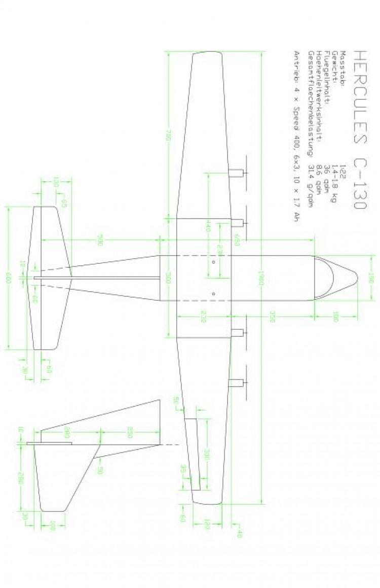 C130 Model 1 model airplane plan