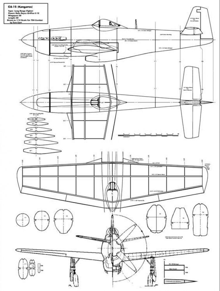 CA15 Kangaroo model airplane plan