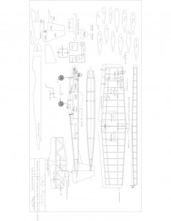 Cad kaos Model 1 model airplane plan