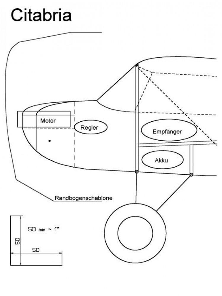 CIT1001 model airplane plan