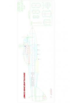 COMET1 Model 1 model airplane plan