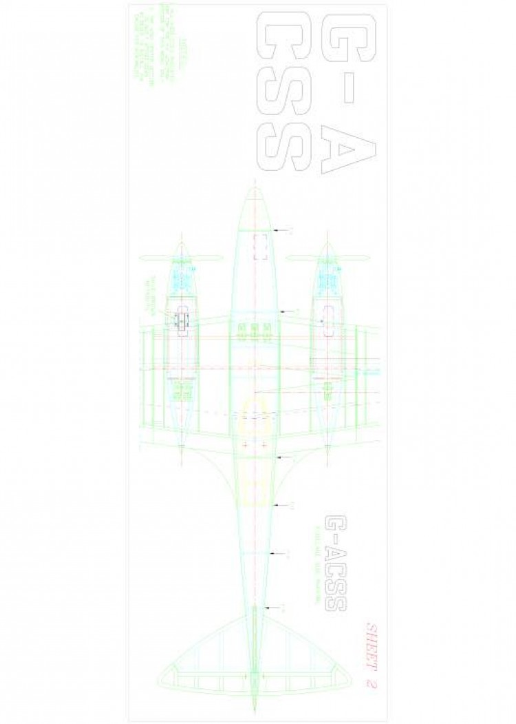 COMET2 Model 1 model airplane plan