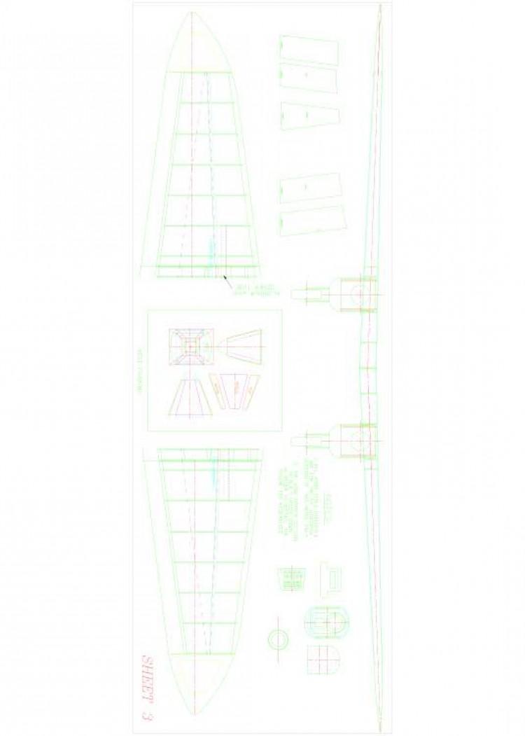 COMET3 Model 1 model airplane plan