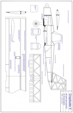 cropd Model 1 model airplane plan