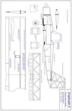 cropd Model 1 model airplane plan