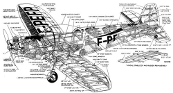 cutaway model airplane plan